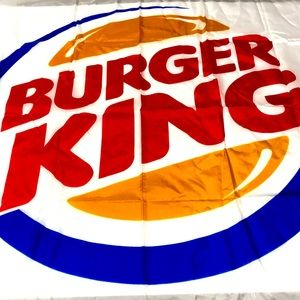 Vintage BUGER KING Flag Retro BK Flag
